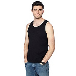 Red Herring - Big and tall black slim fit vest
