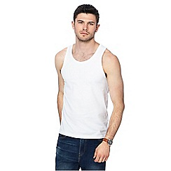 Red Herring - White slim fit vest