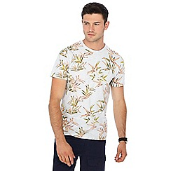 Red Herring - Grey hibiscus print t-shirt