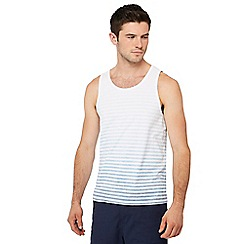 Red Herring - White and blue faded stripe vest