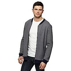 Red Herring - Navy knit look baseball jacket