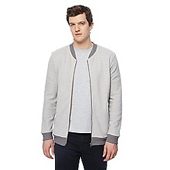 Red Herring - Grey knitted zip through cardigan