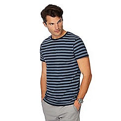 Red Herring - Big and tall blue stripe print slim fit t-shirt