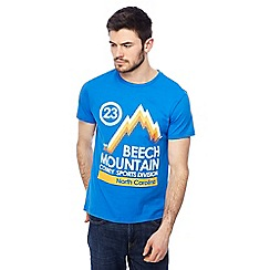 Red Herring - Big and tall blue 'beech mountain' print t-shirt