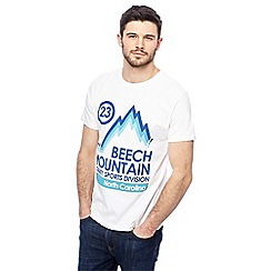 Red Herring - White 'Beech Mountain' print t-shirt