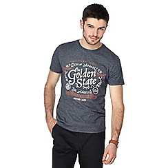 Red Herring - Dark grey 'Golden State' print t-shirt