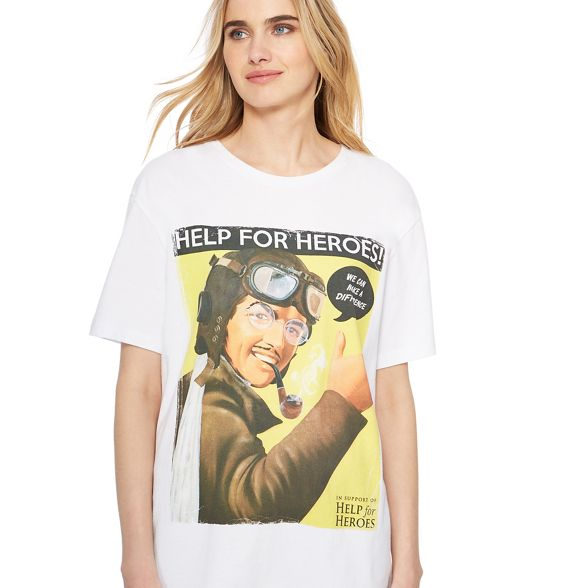 for t 'Help print vintage for Help White Heroes' Heroes poster shirt PdzOnzq