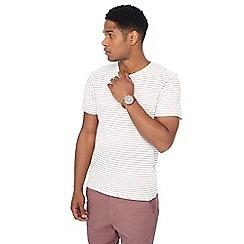 Red Herring - Off white slim stripe print slim fit t-shirt