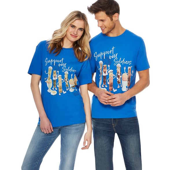 t soldiers for and 'Help Heroes' for Heroes shirt egg Help print Blue 6qBw8Iwv