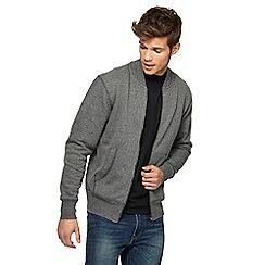 Red Herring - Grey texture zip through sweatshirt
