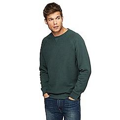 Red Herring - Dark green textured sweatshirt