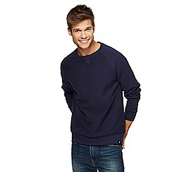 Red Herring - Big and tall navy textured sweatshirt