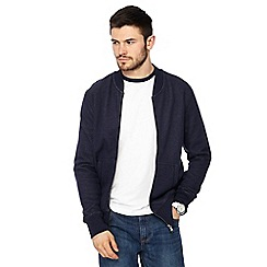 Red Herring - Big and tall navy regular baseball jacket