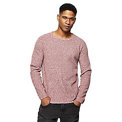 Red Herring - Red twist knit jumper
