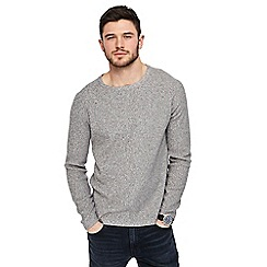 Red Herring - Grey twist knit jumper