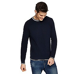 Red Herring - Navy tipped crew neck jumper
