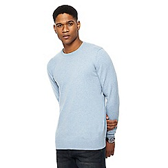 Red Herring - Big and tall light blue crew neck jumper