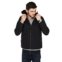 Red Herring - Big and tall black hooded jacket