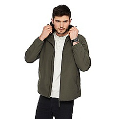 Red Herring - Big and tall khaki hooded jacket