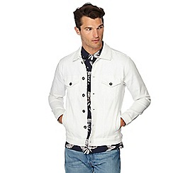 Red Herring - Big and tall white denim jacket