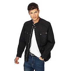 Red Herring - Big and tall black regular fit jacket
