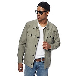 Red Herring - Big and tall khaki military shirt jacket