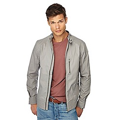 Red Herring - Big and tall grey regular fit biker jacket