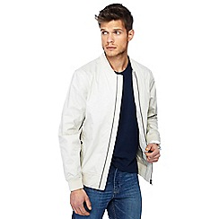 Red Herring - Big and tall off white bomber jacket