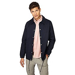 Red Herring - Big and tall navy regular fit jacket
