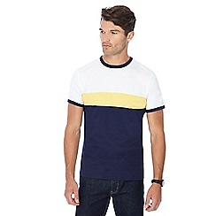 Red Herring - Navy placement stripe t-shirt