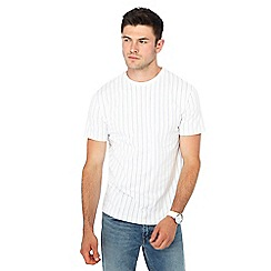 Red Herring - Big and tall white stripe print slim fit t-shirt