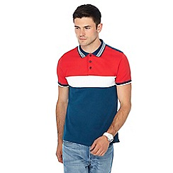 Red Herring - Red stripe print slim fit polo shirt