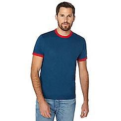 Red Herring - Big and tall mid blue contrast trim slim fit t-shirt
