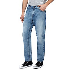 Red Herring - Big and tall light blue light wash straight leg jeans
