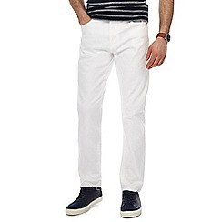 Red Herring - Big and tall white slim leg jeans