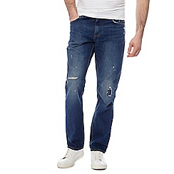 Red Herring - Big and tall blue distressed slim fit jeans