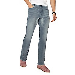 Red Herring - Big and tall grey mid wash slim fit jeans