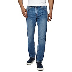 Red Herring - Big and tall blue mid wash slim fit jeans