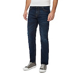 Red Herring - Big and tall dark blue dark wash slim fit jeans
