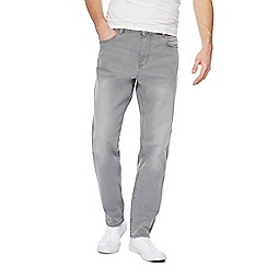 Red Herring - Big and tall grey tapered fit jeans