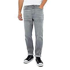 Red Herring - Grey light wash tapered jeans