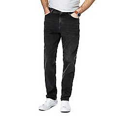 Red Herring - Big and tall black tapered straight fit jeans