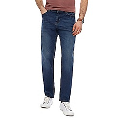 Red Herring - Big and tall blue mid wash tapered jeans