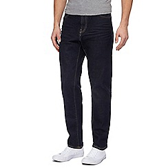 Red Herring - Big and tall blue rinse wash tapered jeans