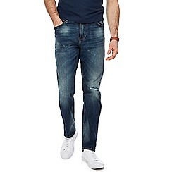Red Herring - Blue vintage wash slim fit ripped jeans