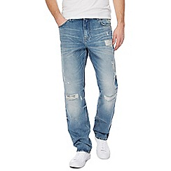 Red Herring - Blue distressed straight leg jeans