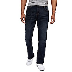 Red Herring - Dark blue vintage wash bootcut jeans