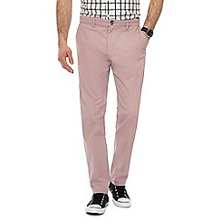 Red Herring - Dark pink slim leg chinos
