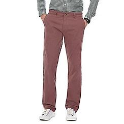 Red Herring - Dark pink straight leg chinos
