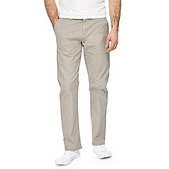 Red Herring - Big and tall light grey straight leg chinos